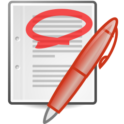 256px-Text-x-generic-highlight-red-marker-round.svg